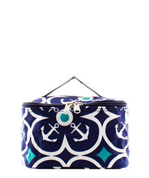 Anchor Geometric Small Cosmetic Bag