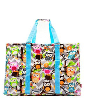 Utility Tote Extra Large - Chevron Owl Print - 2 Color Choices