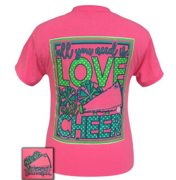 "Youth Girlie Girl ""Love and Cheer"" Tee"