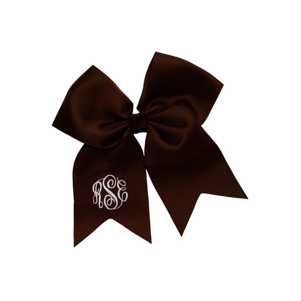 Brown Hairbow w/ Monogram