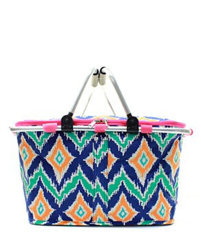 Insulated Picnic Basket IKAT - 2 Color Choices