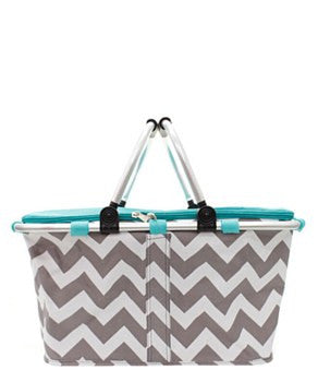 Insulated Picnic Basket Chevron - 2 Color Choices