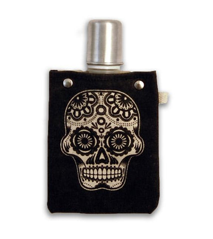 Sugar Skull - Canvas Flask 120ML - gonepottynz
