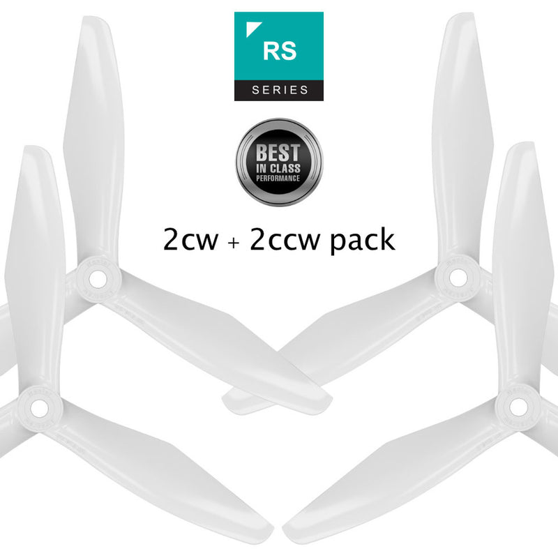 RS-3blade-FPV - 6x4.5 Prop Set x4 White - Master Airscrew - Multi Rotor/ Model Airplane Propellers