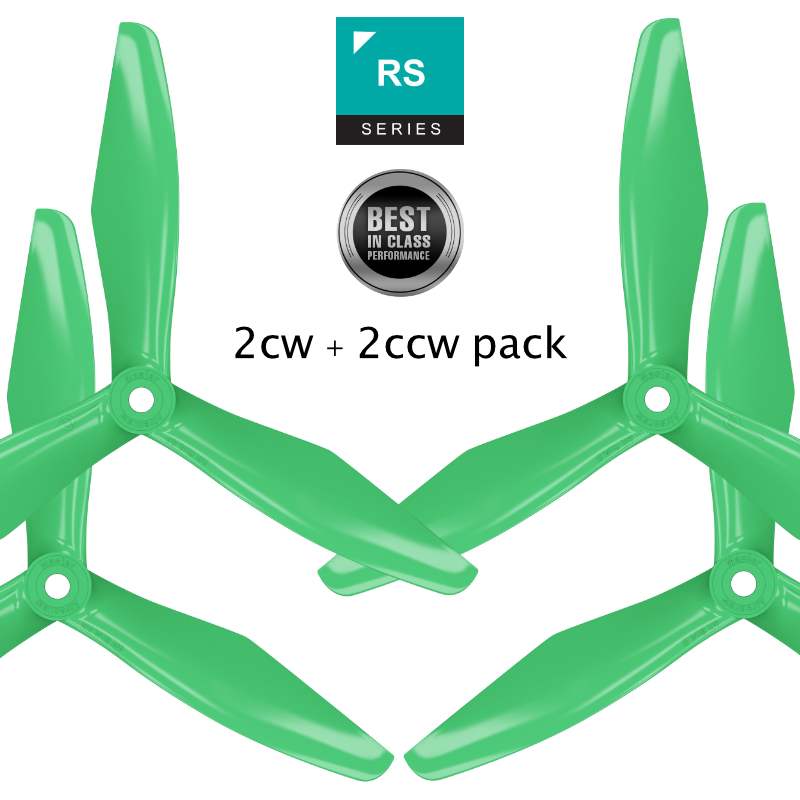 RS-3blade-FPV - 6x4.5 Prop Set x4 Green - Master Airscrew - Multi Rotor/ Model Airplane Propellers