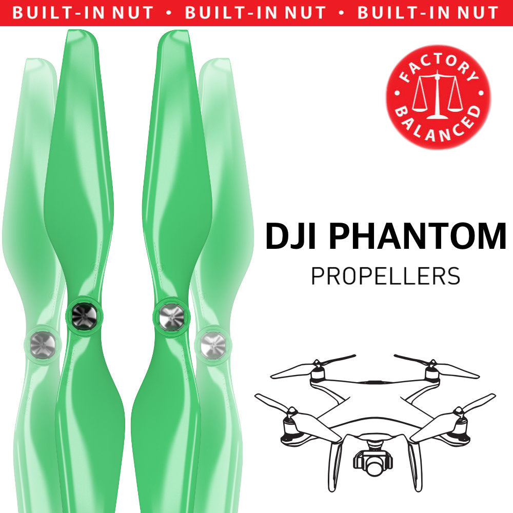DJI Phantom Built-in Nut Upgrade Propellers - MR PH 9.4x5 Set x4 Green - Master Airscrew - Multi Rotor/ Model Airplane Propellers