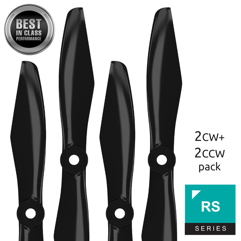 RS FPV Racing - 5x4.5 Prop Set x4 Black - Master Airscrew - Multi Rotor/ Model Airplane Propellers