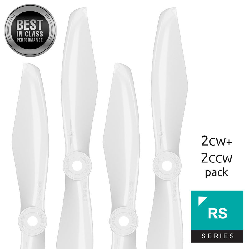 RS FPV Racing - 5x4.5 Prop Set x4 White - Master Airscrew - Multi Rotor/ Model Airplane Propellers