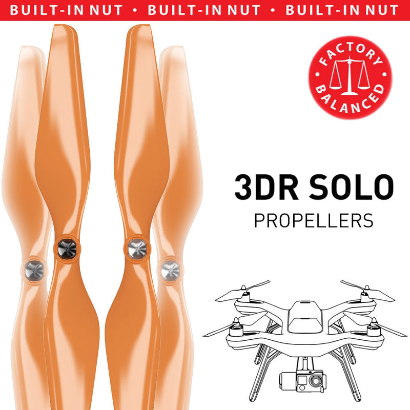 3DR Solo Built-in Nut Upgrade Propellers - MR SL 10x4.5 Set x4 Orange - Master Airscrew - Multi Rotor/ Model Airplane Propellers