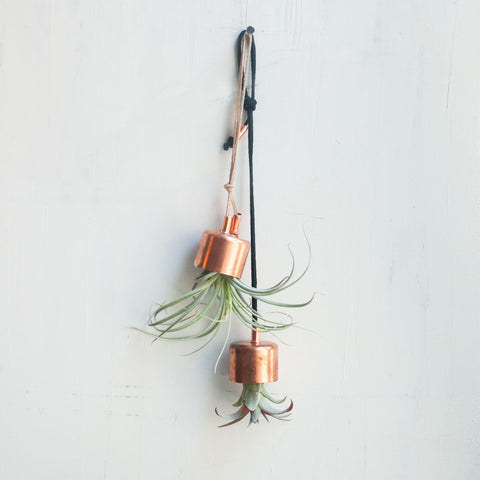 Hanging Planter Copper Chime with Airplant