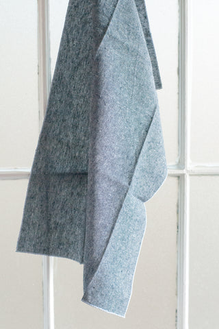 Chambray Denim Blue Colored Linen Tea Towel