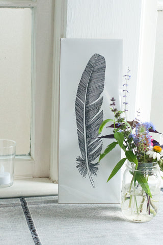 Feather Letterpress Art Prin