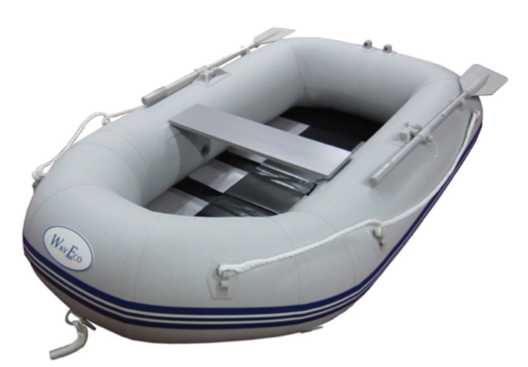 WavEco 2.30m Roundtail Slatted Floor Inflatable Boat with Outboard Bracket
