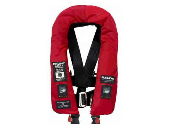 Baltic 300 M.E.D./SOLAS Automatic Inflatable Twin Chamber Lifejacket with Harness