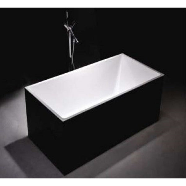 1030B-1700 Black Four Square Straight Sided Freestanding Bath