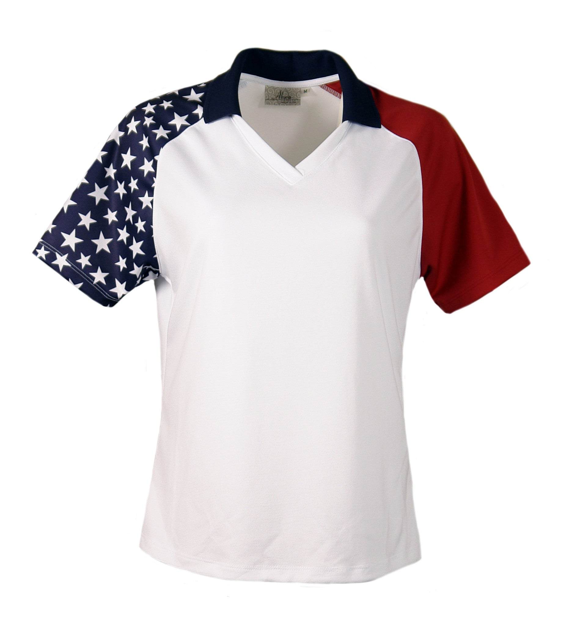 Ladies' Patriotic Polo - AKWA - Graphic Comfort