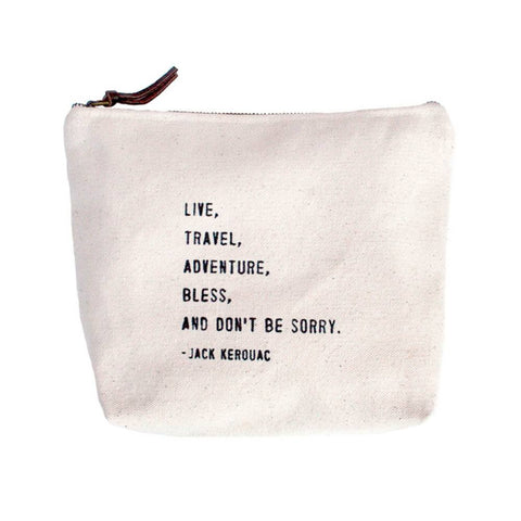 Image of Canvas Bag - Live, Travel, Adventure, Bless, And Don't Be Sorry. - Cece & Me - Home and Gifts