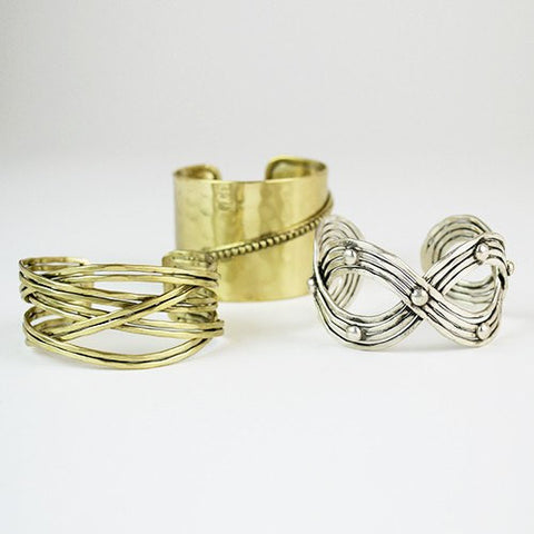 Image of Cross Metal Cuff ~ Gold - Cece & Me - Home and Gifts