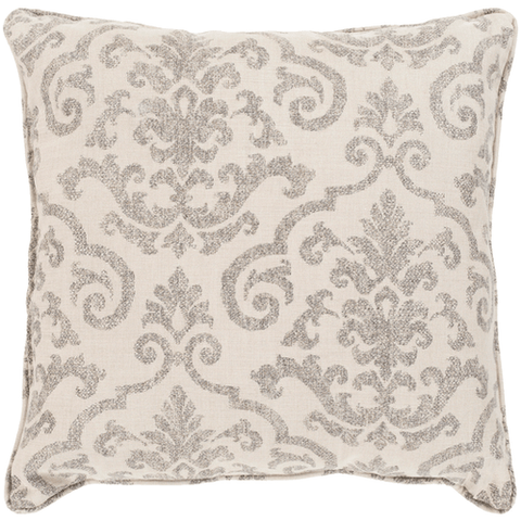 Damara Pillow ~ Taupe - Cece & Me - Home and Gifts