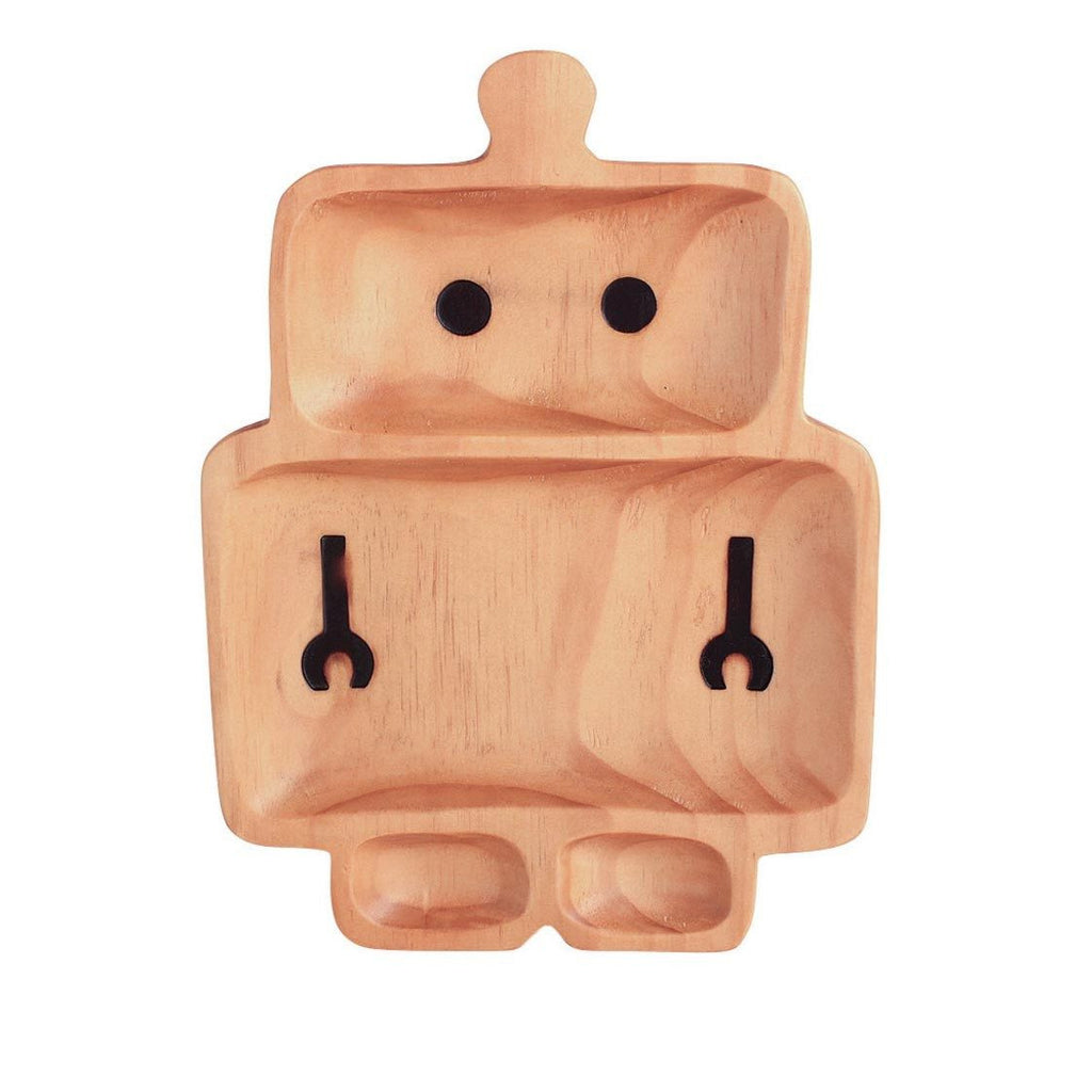 Kids Wooden Plate ~ Robot - Cece & Me - Home and Gifts