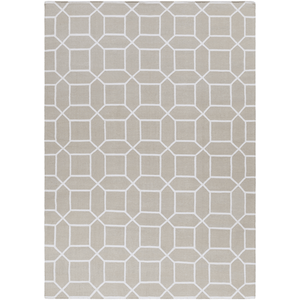 Leadley Rug ~ Ivory & White