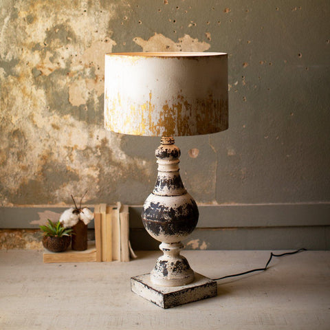 Metal Table Top Lamp With Metal Shade - Cece & Me - Home and Gifts