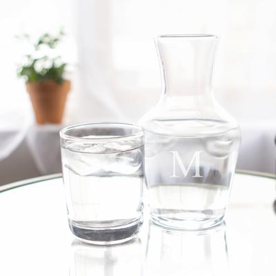 Personalized Bedside Water Carafe Set - Cece & Me - Home and Gifts