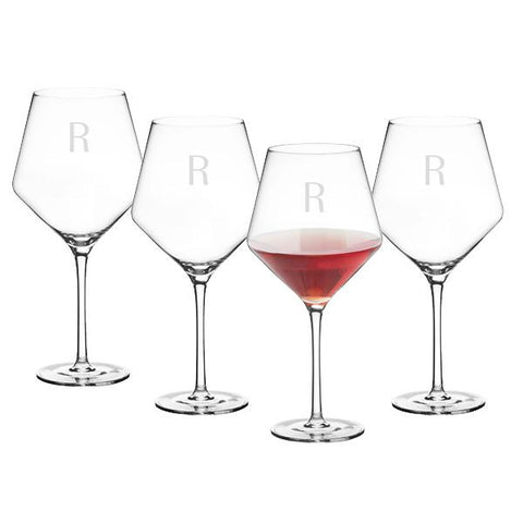 Personalized 23 oz. Red Wine Estate Glasses (Set of 4) - Cece & Me - Home and Gifts