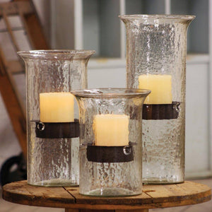 The Original Glass Candle Cylinder with Rustic Insert - Cece & Me - Home and Gifts