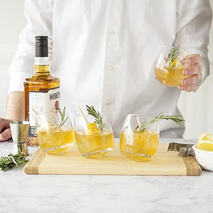 With a Twist Tipsy Whiskey Glasses