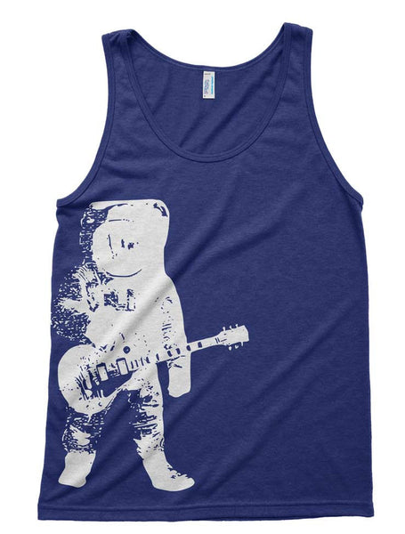 Astronaut Guitar Outer Space Tri-Blend Tank - American Apparel Tanktop - XS S M L Xl (Color Options)
