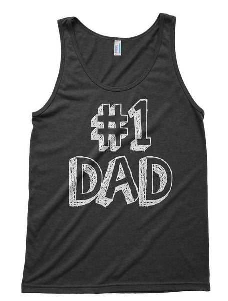 Number One Dad Tri-Blend Tank - American Apparel Tanktop - XS S M L Xl (Color Options)