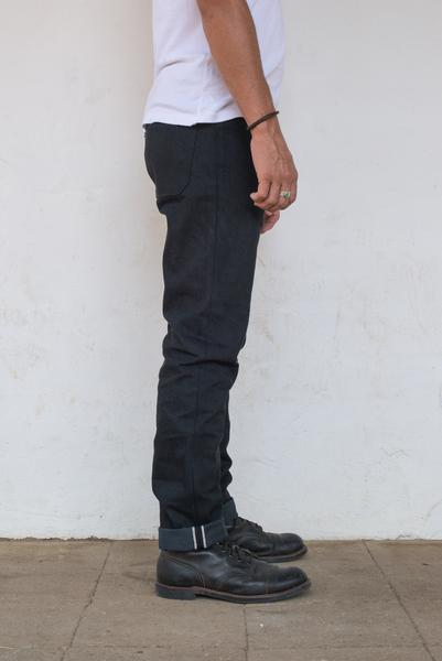 Freenote Cloth - Portola Taper Raw 14.25oz Black Grey Japanese Denim - City Workshop Men's Supply Co.