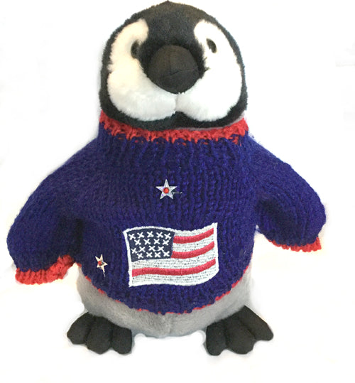 "Patriotic Pat Plush Penguin (10"" Tall)"