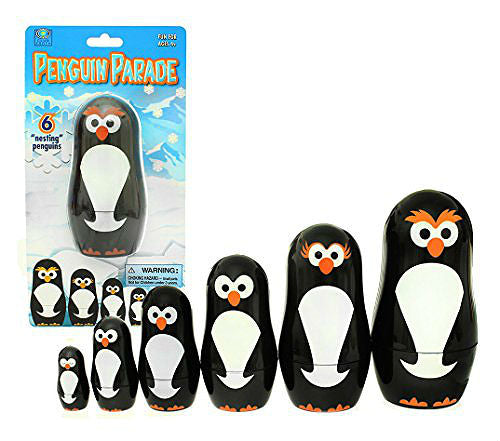 "Penguin Parade Nesting Dolls (4 1/2"" - 2"" Tall)"