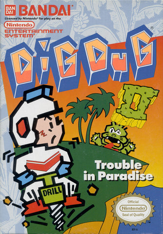 Dig Dug 2: Trouble in Paradise (Nintendo NES, 1989)