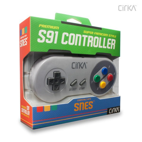 "Super Nintendo Entertainment System - SNES ""S91"" Premium Controller - Super Famicom (CirKa)"