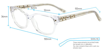 Antalya Computer Gaming Glasses Frame Measurements