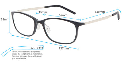 Orion Computer Gaming Glasses Frame Measurements