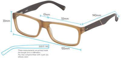 Volos Computer Gaming Glasses Frame Measurements