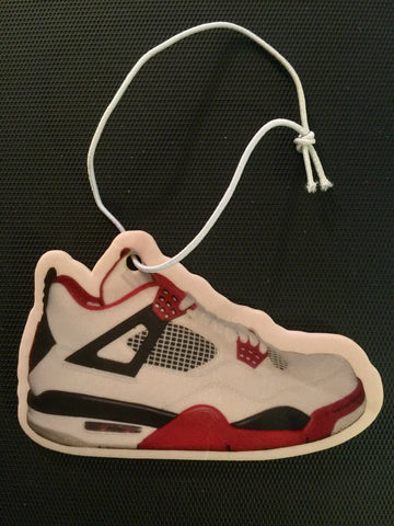 "Air Jordan Retro 4 ""Fire Red"" Car Freshener LexCustoms - 1"