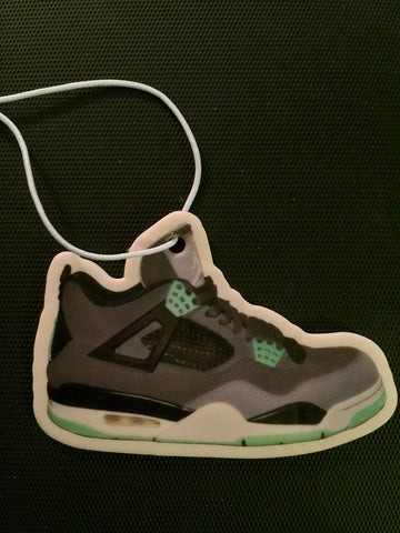 "Air Jordan Retro 4 ""Green Glow"" Car Freshener LexCustoms"