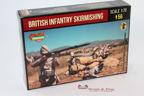 Strelets M133 Boer War British Infantry Skirmishing. 1/72 Scale Plastic Figures