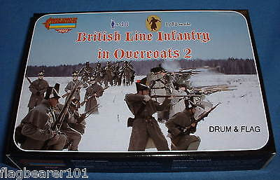 STRELETS M 97 NAPOLEONIC BRITISH LINE INFANTRY IN OVERCOATS #2 1/72 SCALE. 48 Pc
