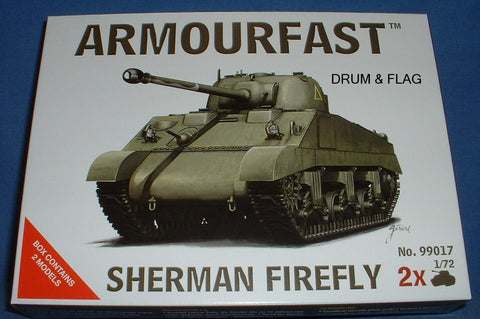 ARMOURFAST 99017. SHERMAN FIREFLY 1/72 SCALE TANKS