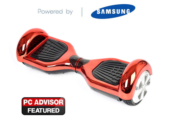 "Red 6"" Chrome Swegway Hoverboard (Bluetooth)"