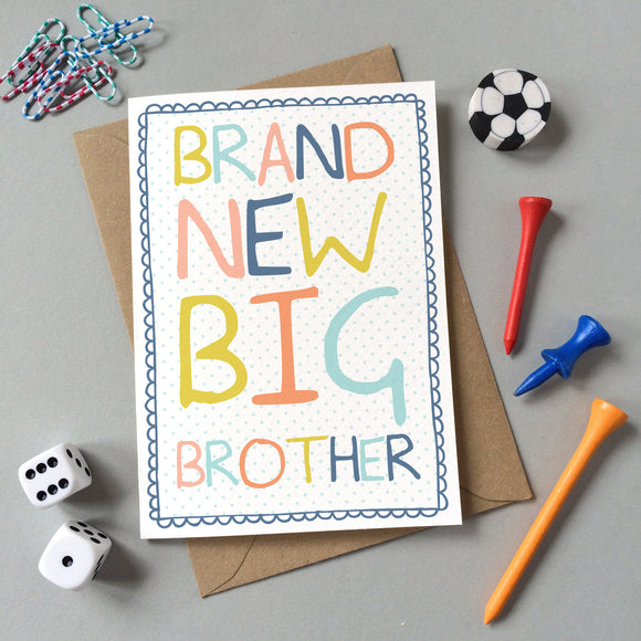 GC012 - 'Brand New Big Brother' Card - 6 pack - Sarah Catherine