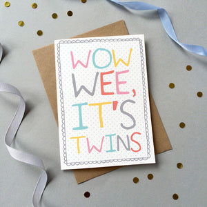 'Wow Wee It's Twins' Card - Sarah Catherine