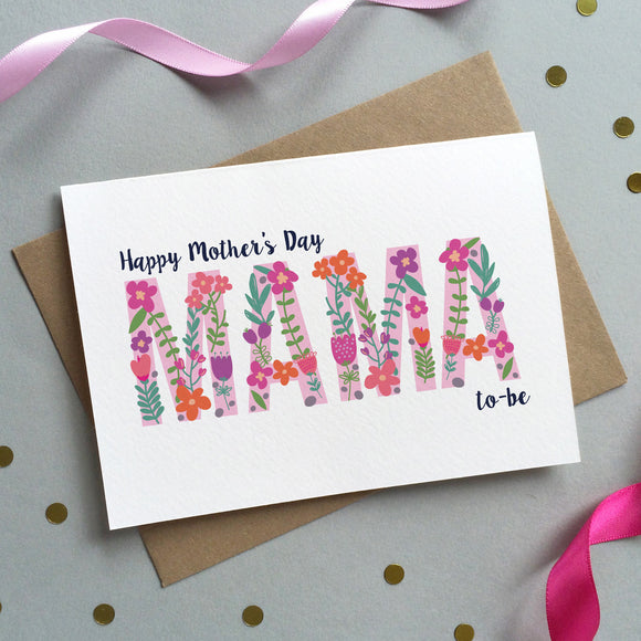 Floral 'Mum To Be' Mother's Day Card - Sarah Catherine
