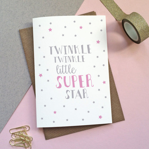 'Twinkle Twinkle Little Super Star' Card - Sarah Catherine